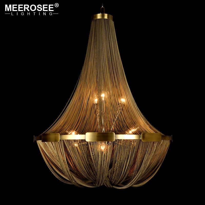 Новое поступление алюминиевый цепной подвесной светильник ампир бронзовый цвет пост цепь освещение Подвесная лампа для гостиной отеля кафе