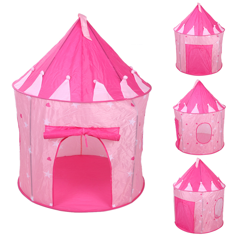 3 Colors Mongolia Kids Foldable Castle Tent Folding Children Outdoor Camping Playing Toy For Children Cubby House Tent Toys outdoor puzzle folding mongolia bag game house tents