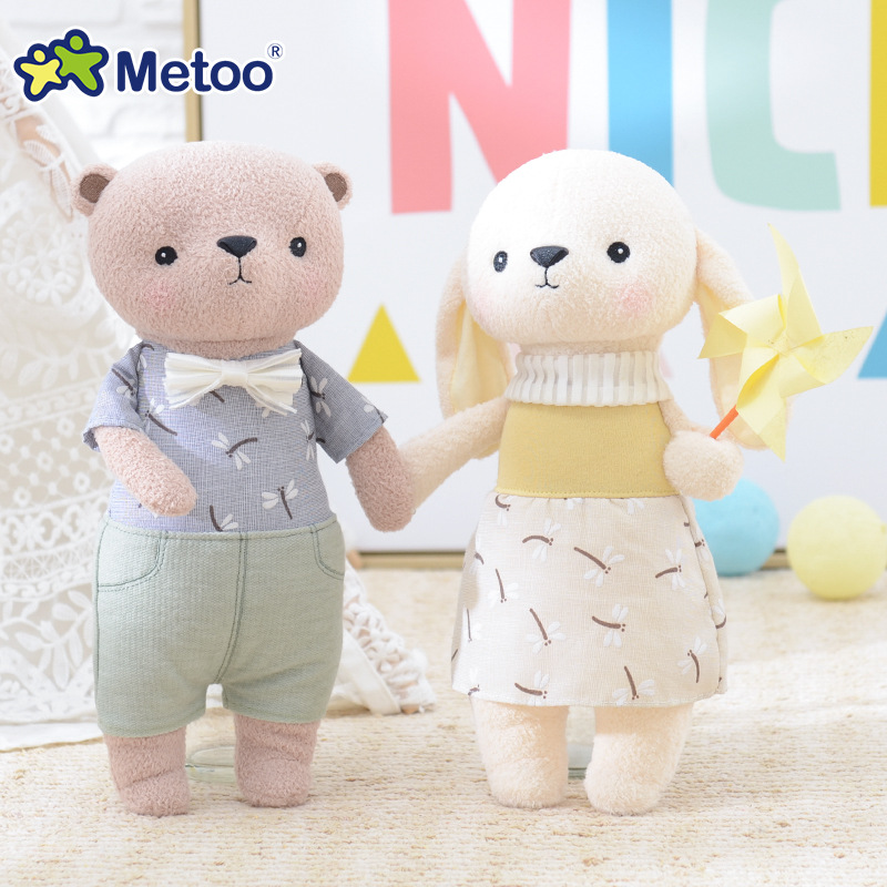 Metoo Doll Kawaii Plush Sweet Cute Stuffed Animal Cartoon Kids Toys for Girls Children Baby Birthday Christmas Gift cartoon fox plush toys donkey cute animal plush education toys for baby kids birthday gift