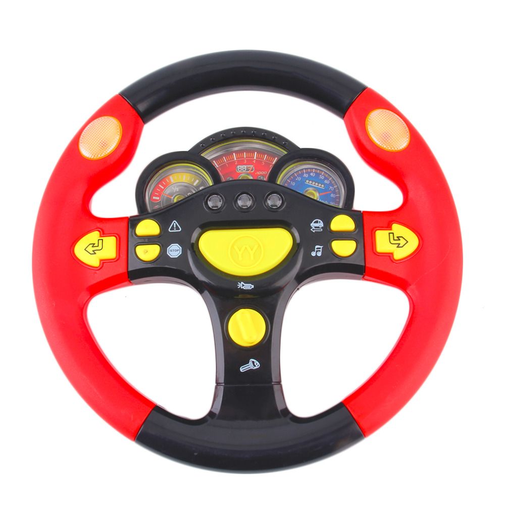 MrY Children's Steering Wheel Toy Baby Childhood Educational Driving Simulation Toy For Kids Simulation Of The Car