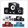 Super bass yd-up 2.1 portable usb speaker multimídia 3.5mm de áudio pequeno subwoofer estéreo loudspeakersfor iphone samsung mp3