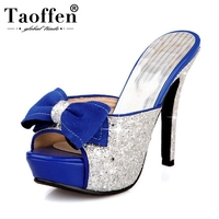 7a2f81cf9 TAOFFEN Real Leather High Heel Sandals For Women Open Toe Buckle Strap  Thick Heel Sandals Summer. TAOFFEN Couro Real Salto Alto Sandálias Para As  Mulheres ...