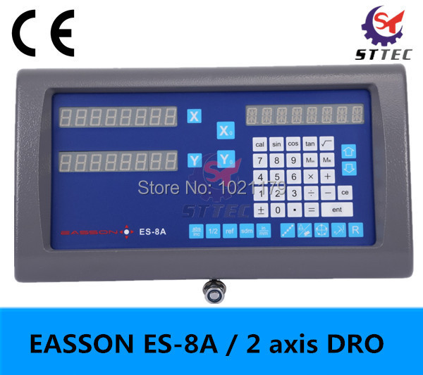 free shipping 2 axis Easson digital readout dro ES 8A for lathe Miller Borer Grinder EDM
