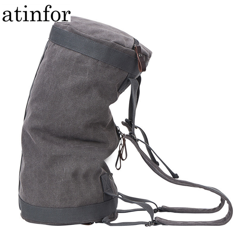 Atinfor Multifunction Vintage Canvas Travel Bag Men Weekend Bags Large Capacity Duffel Bag Luggage