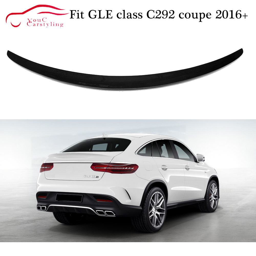 W292 Carbon Fiber Rear Spoiler AMG Style Trunk Boot Lip for Mercedes GLE class C292 Coupe 2016   2019 Tail Lip Splitter|Spoilers & Wings| |  - title=