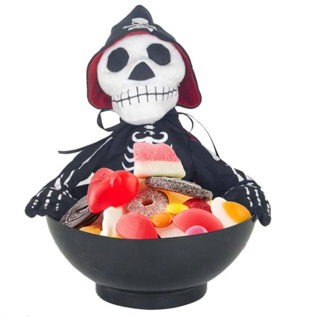 Halloween Skull Bowl Ghost Candy Fruit Tray Halloween Decorations Witches Props Haunted House Ideas Halloween Party Yard
