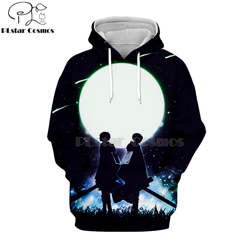 Attack on Titan Shingeki no Kyojin 3D Hoodie Sweatshirt Cosplay Costume Jacket