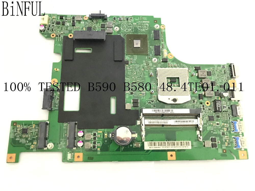 BiNFUL 100% NEW +TESTED LA58 11273-1 48.4TE01.011 LAPTOP MOTHERBOARD FIT FOR LENOVO B580 V580 NOTEBOOK VIDEO CARD N13M-GE1-B-A1 n13m ge2 aio a1