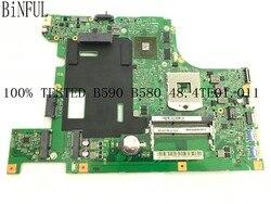 Livraison rapide. LA58 11273-1 48.4TE01.011 B590 carte mère pour LENOVO B590 carte mère, GPU GT610M 1GB ,( fit core i3 i5 i7)