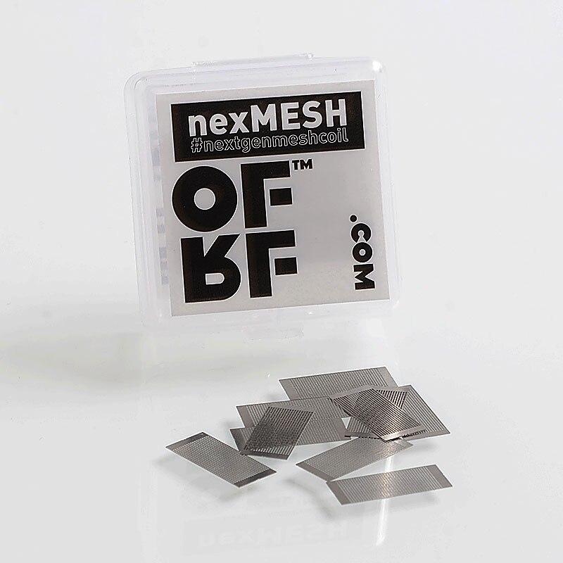 Compre 1 Obtenga 1 gratis Original OFRF nexMESH bobina 10 piezas 0.13ohm de la hoja de la malla para Wotofo perfil RDA Vandy Vape de malla de 24 RTA Vape del atomizador