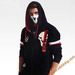 Ow game reaper hoodies watch over ow game cosplay hoodie zip up black sweatshirt coats for.jpg 250x250