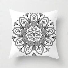 Fuwatacchi Pillow Sofa Waist Throw Cushion Cover Home Decor Cushion Cover Case Home Decoration Floral Mandala Printed 2019 New цены