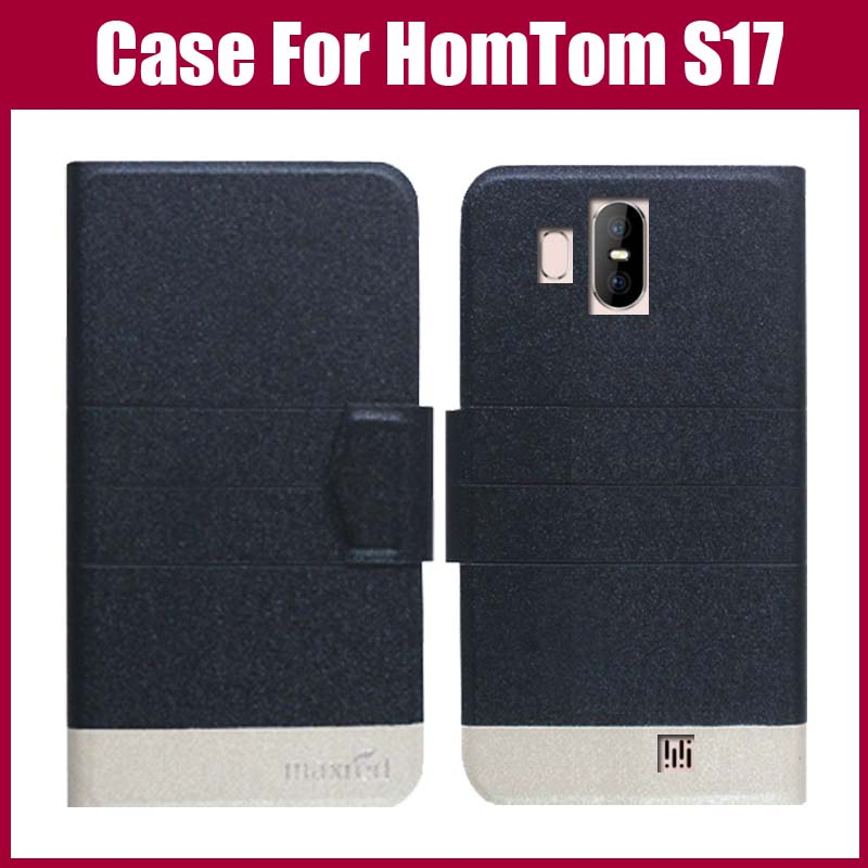 Hot Sale! <font><b>HomTom</b></font> <font><b>S17</b></font> Case New Arrival 5 Colors Fashion Flip Ultra-thin Leather Protective Cover For <font><b>HomTom</b></font> <font><b>S17</b></font> Case image