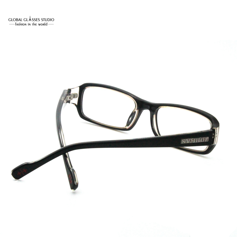 17b27a9627 Rectangle Clean Lens Men Eyeglasses Black on Crystal Color Glasses Frame  Classic Acetate Male Eyewear 7040 C90-in Eyewear Frames from Apparel  Accessories on ...