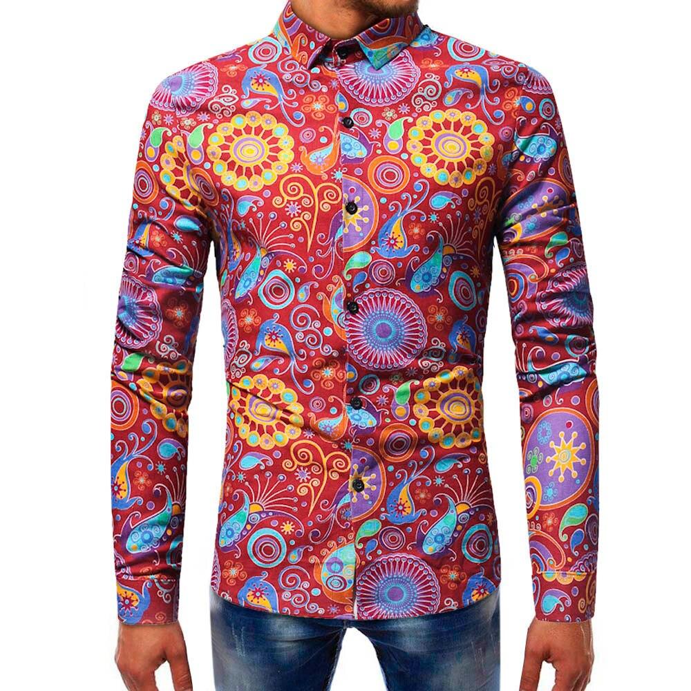 Sleeper #5005 2018 da fashionmens impresso blusa casual manga longa camisas finas topos design exclusivo charme venda quente freeshipping