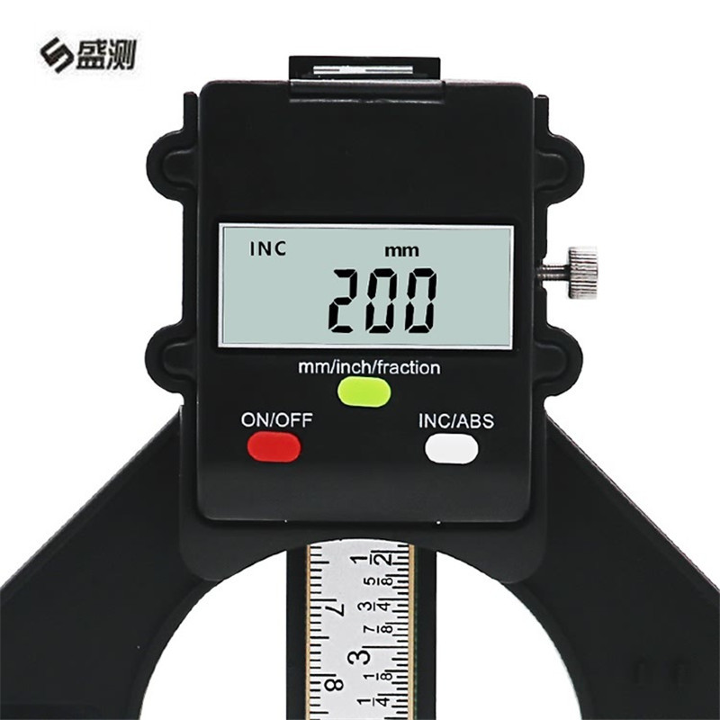 Digital Depth Gauge LCD Tyre Tread Gauge Magnetic Feet Aperture 80mm Hand Router Measuring woodworking tools D1030