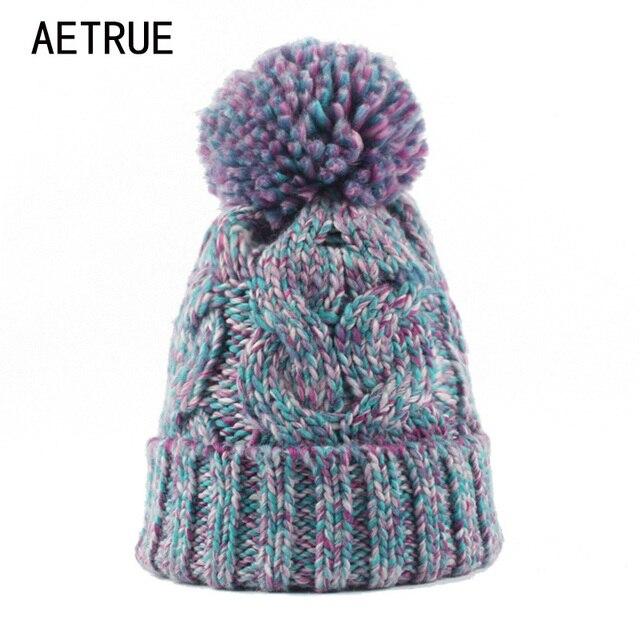 AETRUE Inverno Berretti Donne Cappello di Lana Cappelli di Inverno Per Le  Donne Delle Ragazze Delle ade1bdbd068e