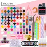 Acrylic Nails Kit Acrylic Powder Set 120ml Acrylic Liquid Glitter Deco 3D French Tips Rhinestone Nail Cutter Kit Manicure Set