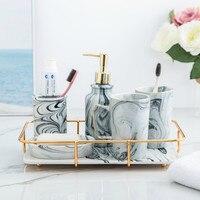 Nordic Marble Pattern Mug Korean Couple Home Wash Brushing Cup Simple Ceramic Net Red Set Tray