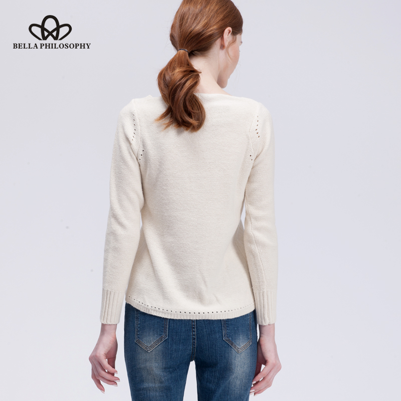 Bella Philosophy 2019 jesen zima Čipkani pulover pulover pleteni - Ženska odjeća - Foto 4