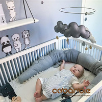 185cm Cotton Baby Crib Bumpers new crocodile doll Pillow Cushion,Nursery bedding,cot room dector
