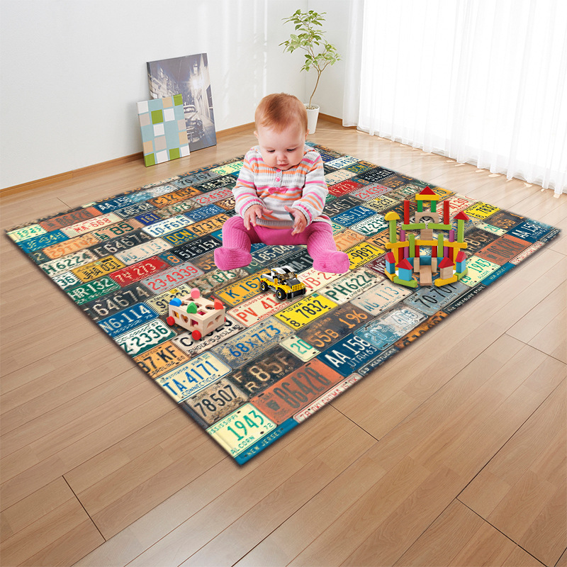 Cartoon Digital Lion Carpets And Rugs For The Living Room Children's Carpet In The Nursery Large Anti-slip Soft Bedroom Rug Mat