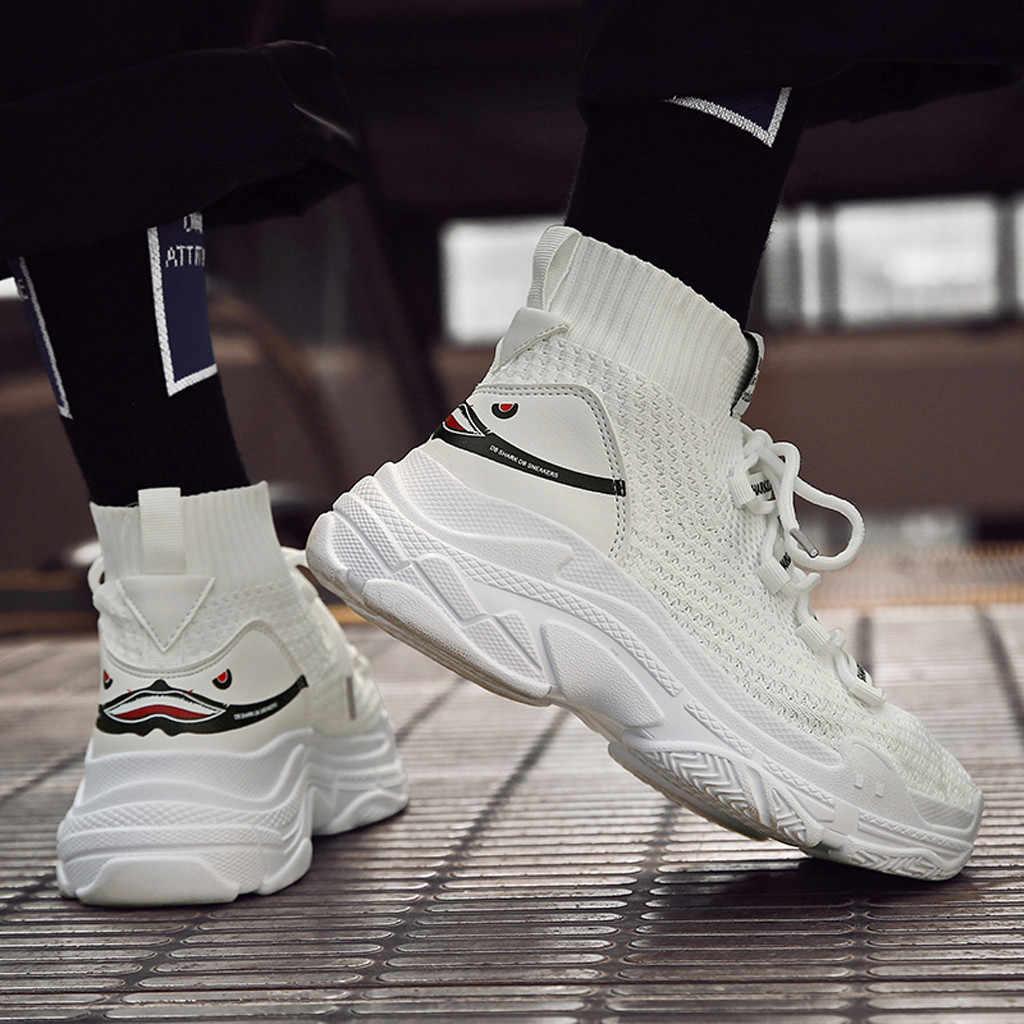 2019 neue High Top Sneakers Plattform männer Glitter Ankle Stiefel Socke Schuhe mann Unisex Dad Chunky Turnschuhe Zapatos De MuJjer # D