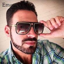 Emosnia негабаритных Квадратные Солнцезащитные очки Для мужчин модные градиентные линзы matteblack солнцезащитные очки Для женщин ретро Винтаж классический UV400 унисекс