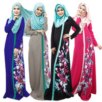 Muslim Dress Women Digital Print Arab Robes Islamic Clothing Abaya Middle East Saudi Arabia Dubai Kaftan Long Dresses Clothing