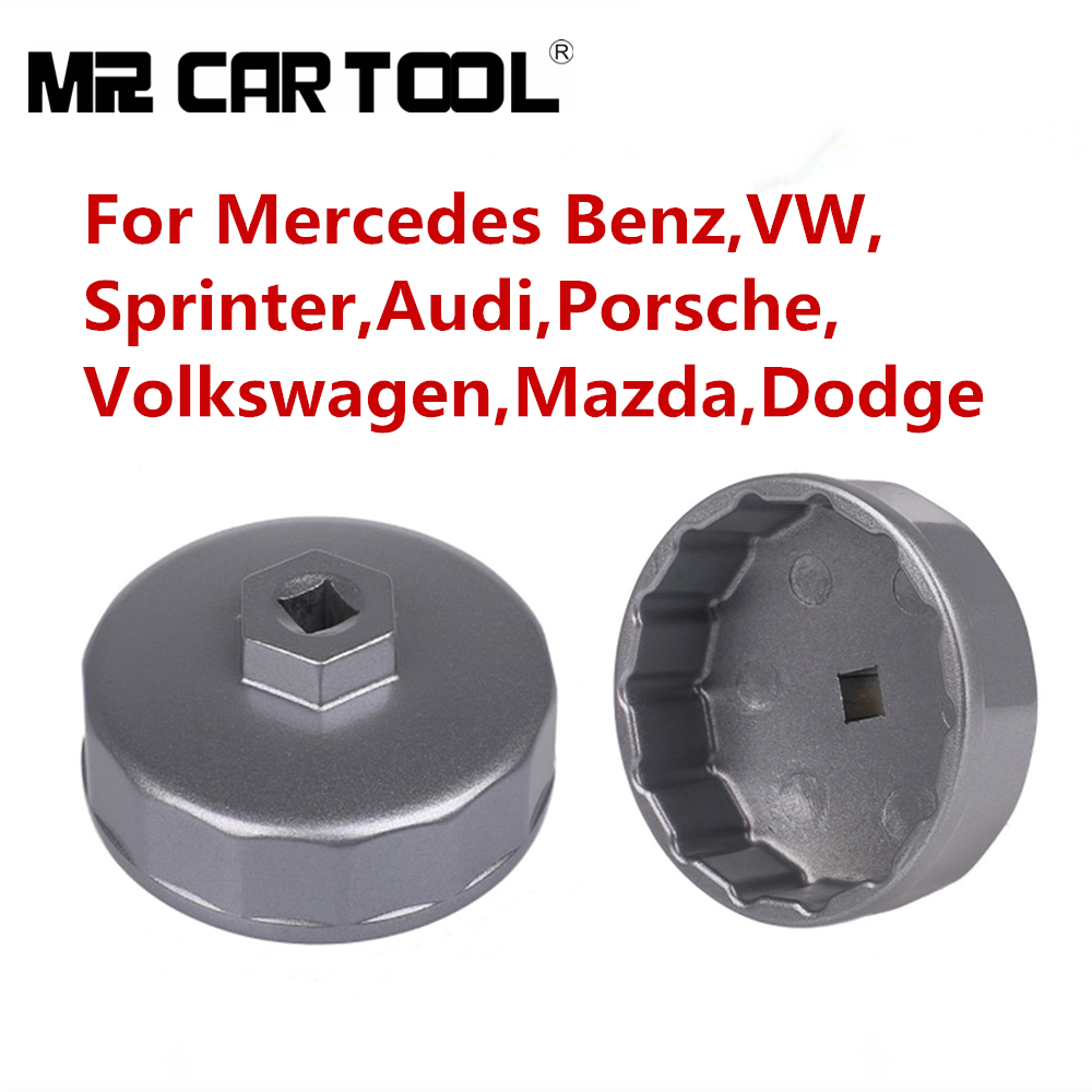 Oil Filter Wrench Engine Tool For Mercedes Benz Sprinter VW Audi Porsche Volkswagen Mazda Dodge Non-slip Internal 74mm 14 Fluter