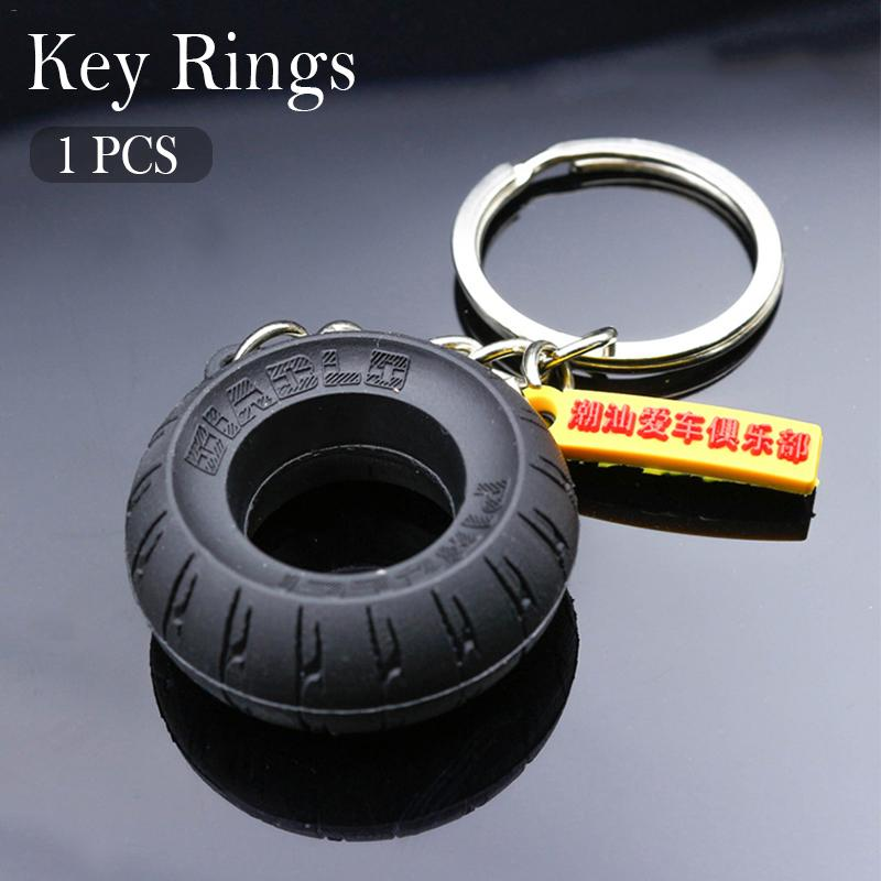 Car Tyre Keychain Motorcycle Assistant Decoration Key Ring