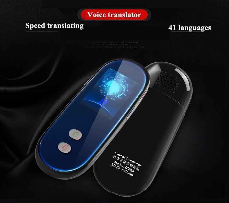 Voice translator support 41 languages 2.4 screen simultaneous interpreter Android 6.0 WIFI+4G multinational smart interpreter