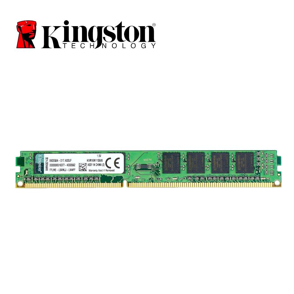 Kingston Desktop ram memory ddr3 8GB 1600MHZ RAM DDR3 16GB=2pcs*8G 8GB PC3-12800 desktop memory RAM DIMM оперативная память 8gb pc3 12800 1600mhz ddr3 dimm foxline fl1600d3u11l 8g