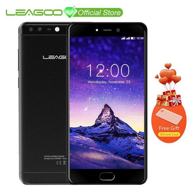 LEAGOO T5c 5.5Inch Phablet 3GB RAM 32GB ROM Android 7.0 SC9853 Octa Core 13.0MP + 2.0MP Dual Cameras Fingerprint 4G Phone