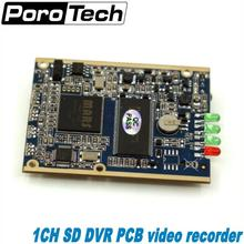 Großhandel 5 stücke echtzeit 1CH Mini HD XBOX DVR Platine bis zu D1 (704*576) 30fps unterstützung 32 GB sd-karte Sicherheit Digital Recorder