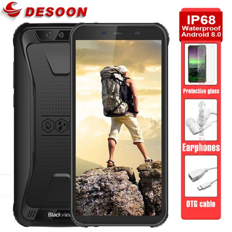 Купить Blackview BV5500 IP68 Водонепроницаемый Android 8,1 MTK6580P мобильный телефон 5,5