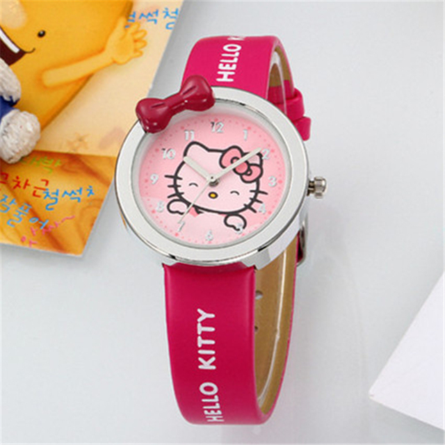 Free Shipping Kezzi Kids Watches K446 Quartz Analog Cartoon Bear Leather Strap Wrist Watch Boys Girls Waterproof Wristwatches