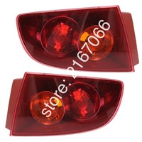 2pcs Tail Lights RED fits MAZDA 3 / AXELA 2003 2004 2005 2006 4Doors Rear Lamps SET LEFT + RIGHT PAIR Sedan Only