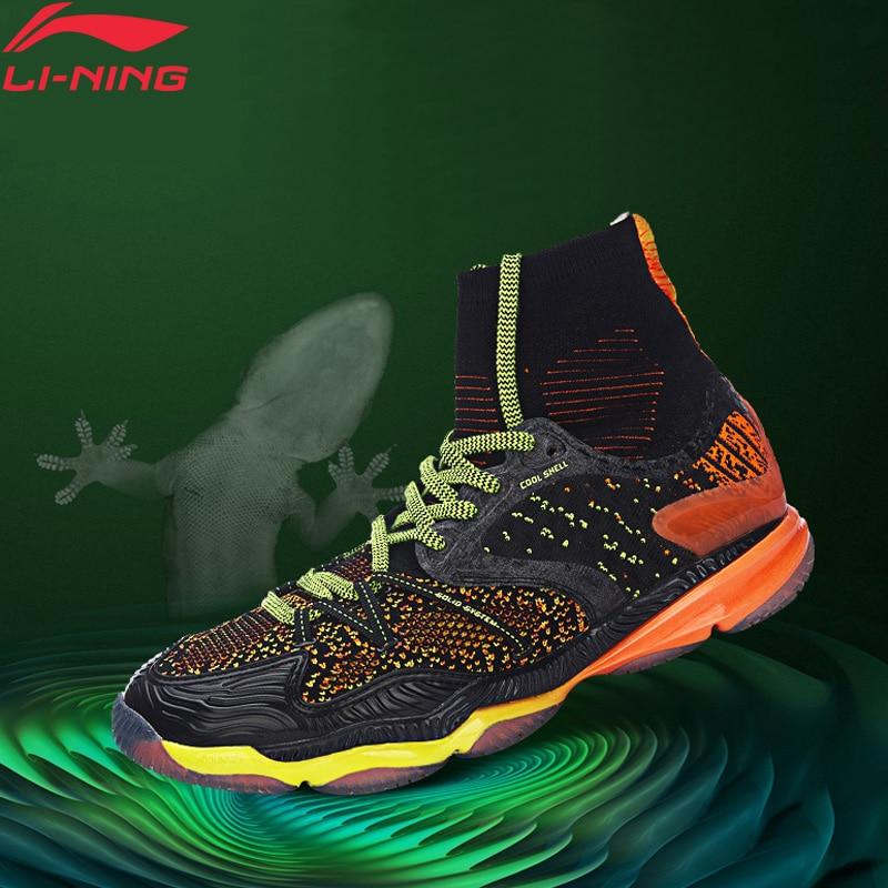 Li-ning hommes Ranger chaussures de Badminton professionnel haute coupe coussin BOUNSE + doublure chaussures de Sport baskets AYAM009 XYY047