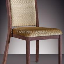 Деревянный алюминиевый Штабелируемый гостиничный обеденный стул LQ-L808