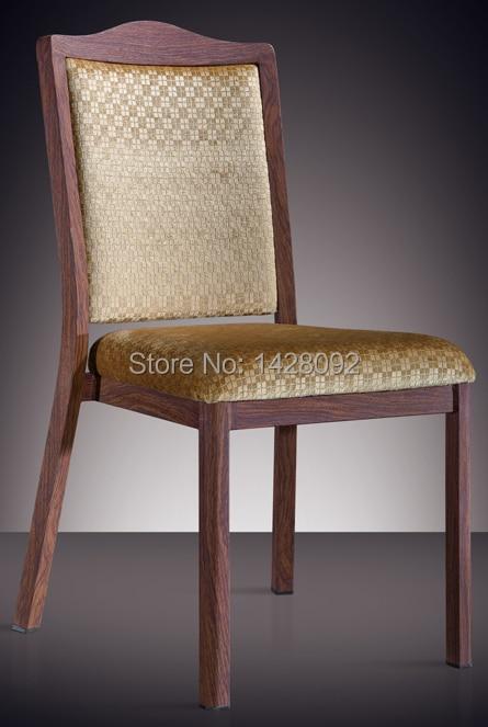 Woodgrain Aluminuml Stacking Hotel Dining Chair LQ-L808
