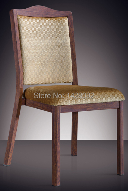 woodgrain aluminuml stacking hotel dining chair LQ-L808