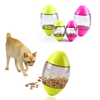 Pet Cat Fun Bowl Feeder Pets Tumbler Leakage Food Feeding Ball Cat Training Exercise Fun Bowl Treat Ball Toy for Cat 13771 1