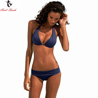 Ariel Sarah Brand Top 2017 Bikinis Set Women Swimsuit Solid May Beach Swimwear Women Bathing Suit
