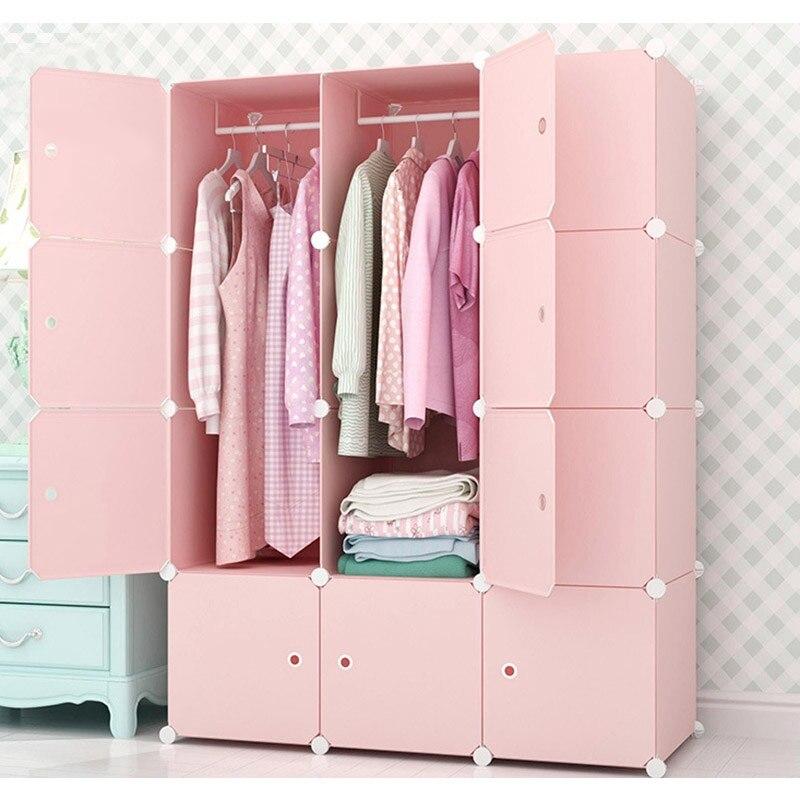 Hot Sale Clothes Wardrobe Closet Dustproof DIY Closet Assembled Wardrobes  Modern Bedroom Furniture Design Storage Cabinet