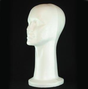Greatangle Schaumkopf Praktische Schaufensterpuppe Kopf Dummy Kopf Weiblicher Kopf Modell Hut Per/ücke Brille Praktische Prop Display Wei/ß