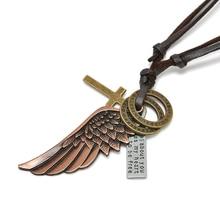 Cross Angel Wing Pendant Necklace
