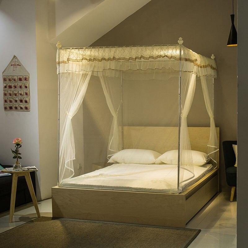 cremallera cuadrado mosquitera para cama doble queen size cama con dosel adultos neta mosquitero de cama