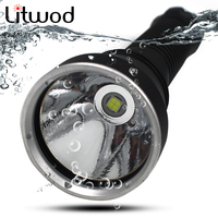 Litwod Z20D88 Diving Led Flashlight Torch 5000LM Lamp XHP70 LED Stepless Dimming Underwater Under Water 150m IPX8