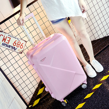 Wholesale!14 26inches pink/green/purple/beige abs hardside travel luggage bags on universal wheels for young girl,gift for birth